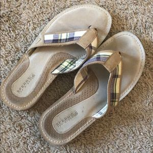 Sperry Top-Sider Flip Flops Tan Size 6